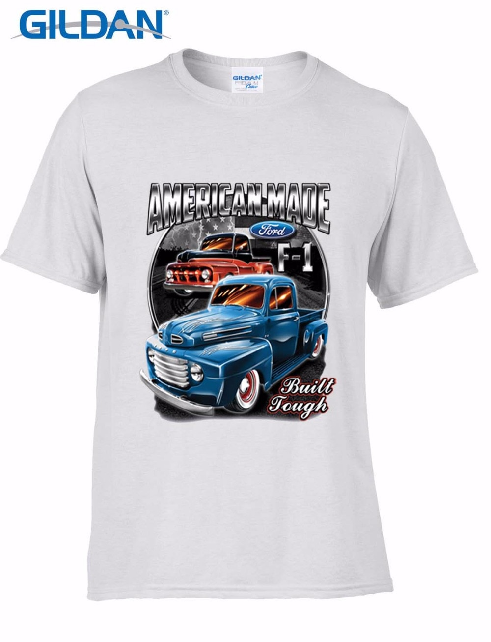 2017 algodón hombres moda verano estilo Fitness marca MensS camiseta American Pick Up Truck F100 Vintage V8 Classic Car camiseta