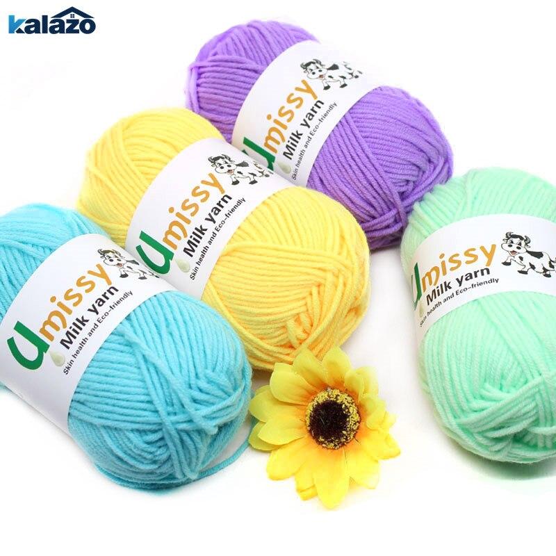 50 g/unidad de hilo de algodón suave de leche DIY para invierno, suministros de tejer a mano, manta tejida de lana para bebé, hilo para bufanda, decoración de costura artística