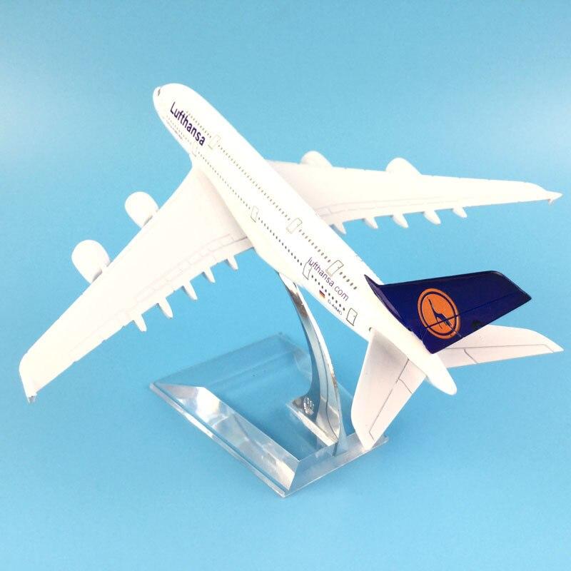 Modelo de avión de 16cm Lufthansa Airbus 380, modelo de avión de...