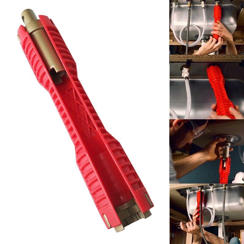 2018 новый кран и раковина установщик экстра-длинный дизайн позволяет повернуть инструмент красный