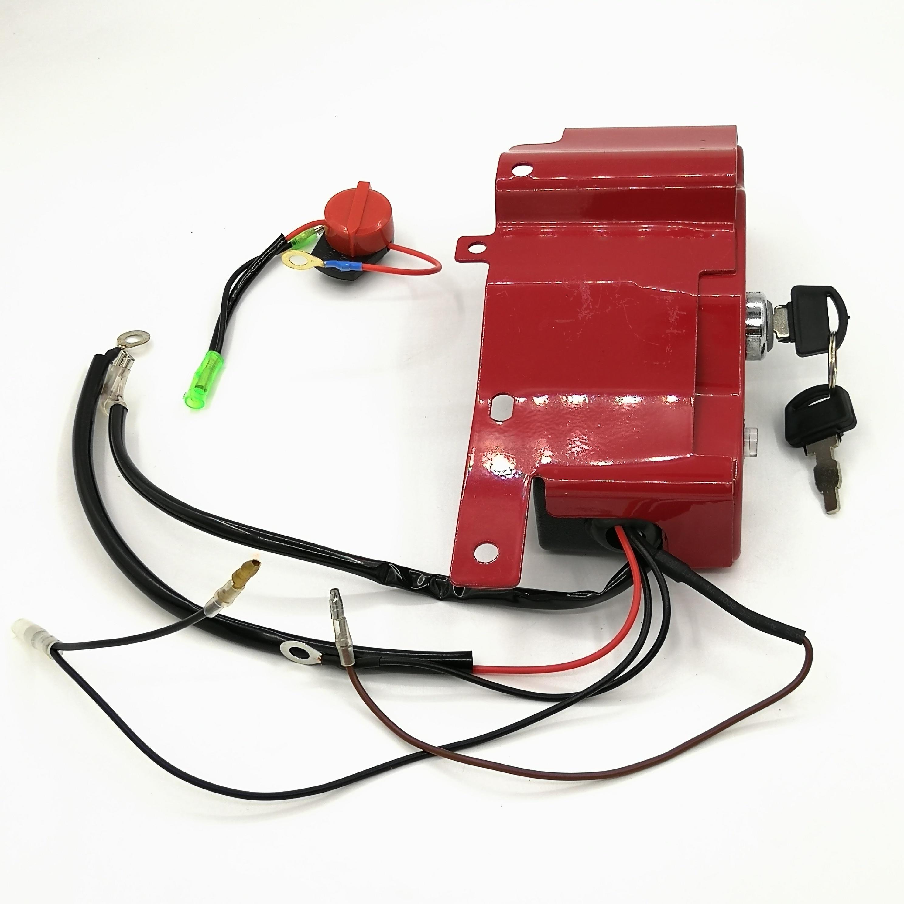 Ignición On-Off botón de la caja para HONDA GX 390 340 chino 188F 190F 5KW 6.5KW 11hp 13hp motor de Gas partes de generador de gasolina