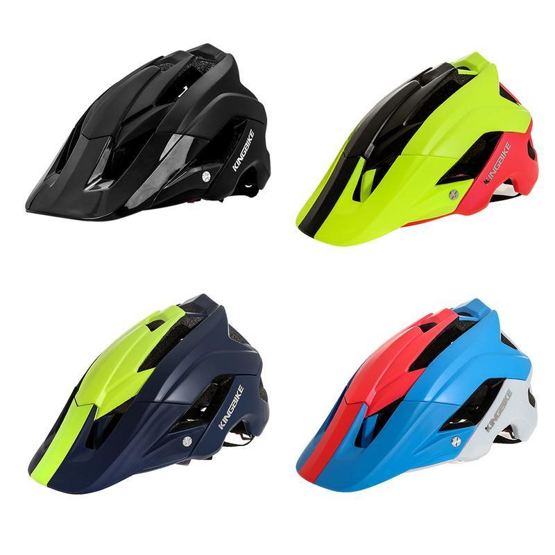 Casco Universal para bicicleta de montaña, casco para motocicleta, Helmet-J-654 de una pieza para ciclismo, con 4 colores