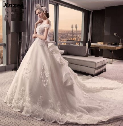 Luxury Dresses Xnxee Muslim Beaded Formal Prom Gowns Abendkleider robe de soiree longue 2018 Xnxee