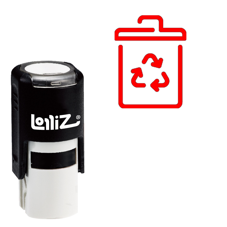 Reciclagem De Lixo LolliZ Auto-Tinta Carimbo De Borracha-Símbolo Da Série Moderna