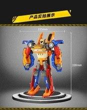 Tobot Robot 3 in 1 Transformation Toys Deformation Action Figure Merge Car Children Cartoon Animation Model Set