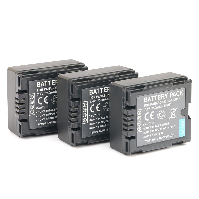 LANFULANG 3 Pack CGA CGR DU06 DU07 reemplazo del Li-Ion de la batería para Panasonic PV-GS34 PV-GS35 PV-GS65 PV-GS120 PV-GS150 PV-GS180