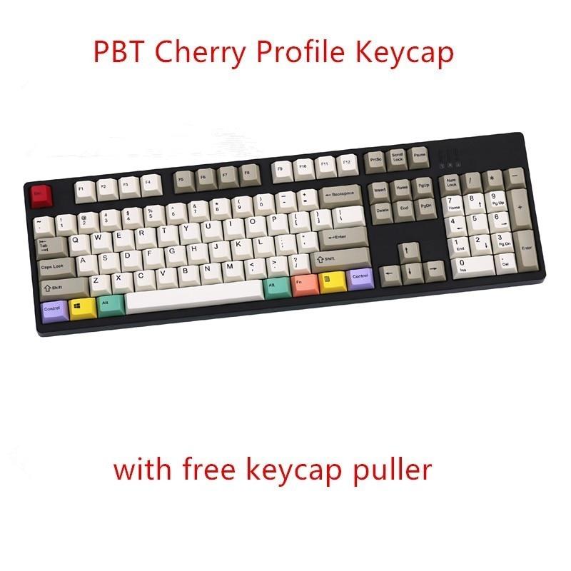 108/130 مفاتيح PBT الكرز الشخصي صبغ التسامي الرجعية Keycap المفاتيح الميكانيكية مفتاح قبعات ل Corsair Razer IKBC الكرز FILCO