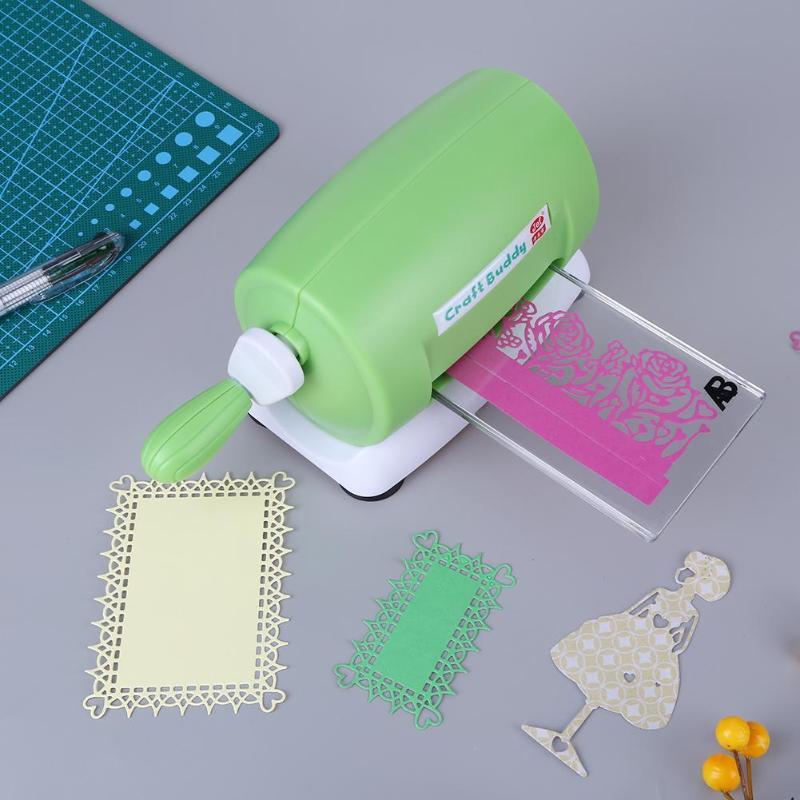 Troquel DIY máquina de grabado en relieve Scrapbooking artesanal troquel cortador de tarjetas de papel troquelado máquina de repujado en casa troqueles herramienta rosa púrpura
