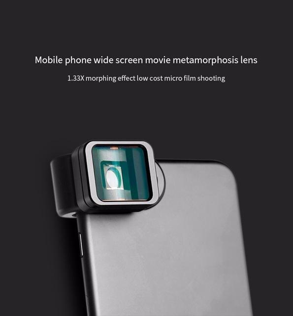 Lente do telefone Clipe Universal 1.33X Deformação Widescreen Telefone Lente para Samsung LG iPhone Da Apple Android r60