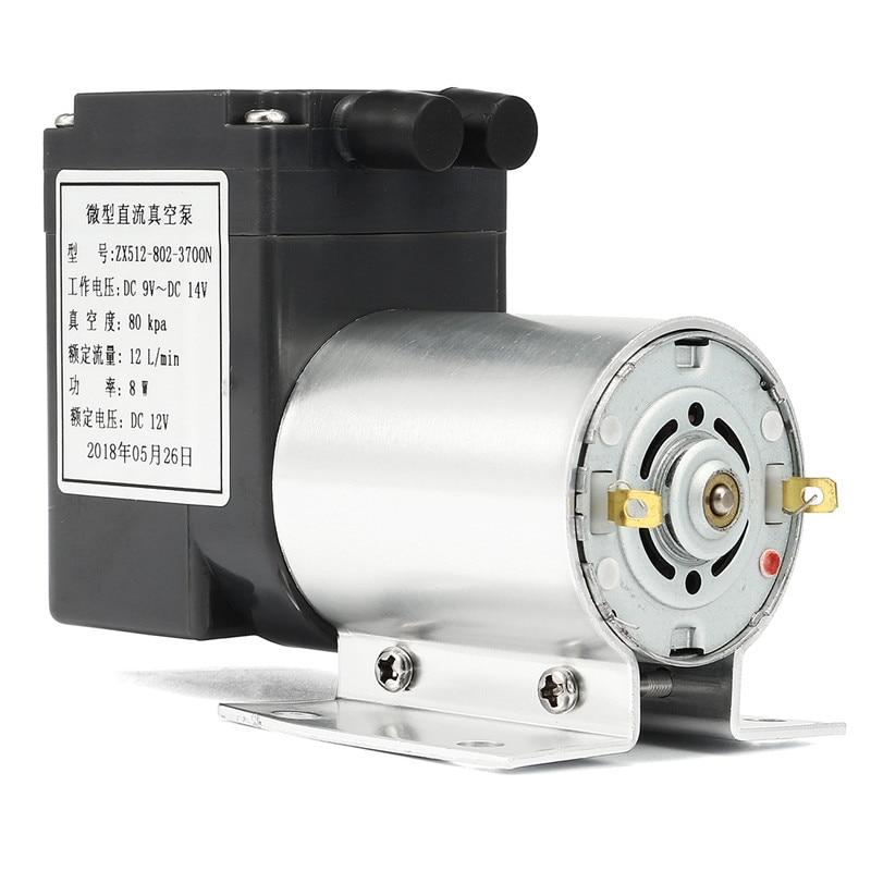 DC12V Mini Metal Vacuum Pump High Negative Pressure Suction Pump With Holder 12L/min 120kpa Micro Diaphragm Pump Auto Car Part