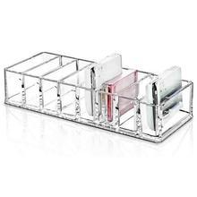 Soporte de exhibición Cosmética Maquillaje acrílico transparente organizador lápiz labial Venta caliente