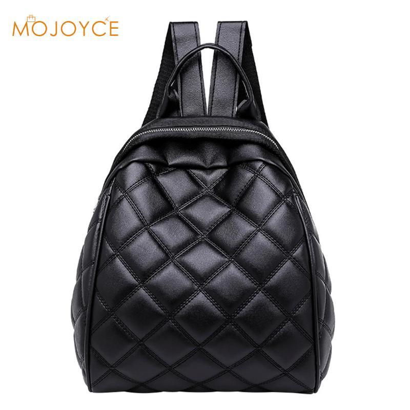 2019 New Diamond Lattice Women Mini PU Leather Backpack Casual Travel School Shoulder Bags For Teenagers Girls Mochila Feminina