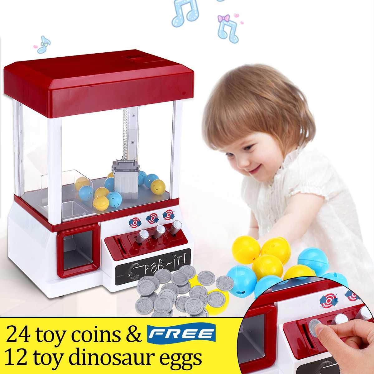 Plástico abs portátil máquina grabber de doces arcada brinquedo motorizado garra jogo crianças divertido guindaste gadget moeda operado entretenimento jogo