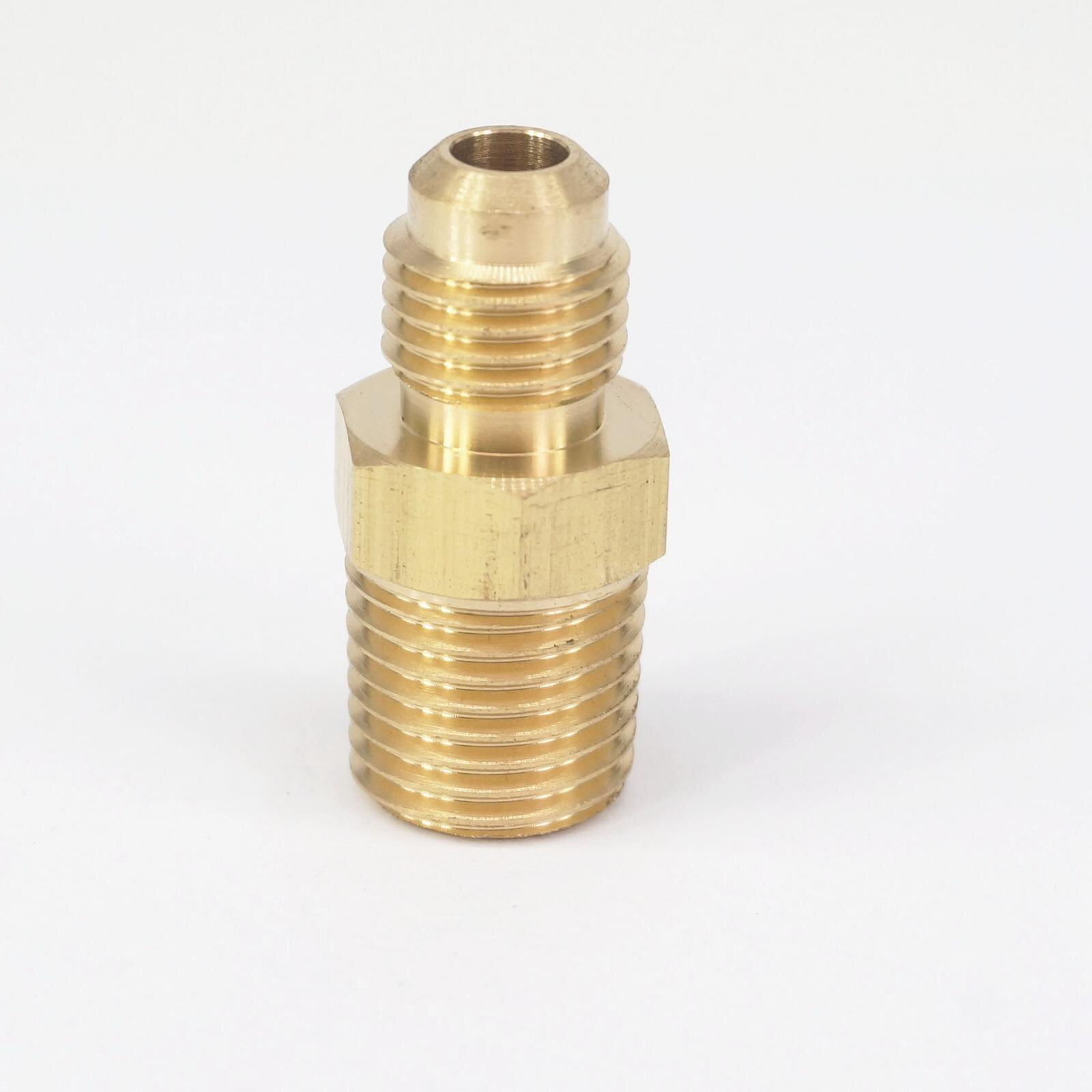 "Ajuste 1/8 ""tubo OD 1/4"" - 1/4 ""NPT Macho latón SAE 45 grados adaptadores conectores adaptadores 229PSI"