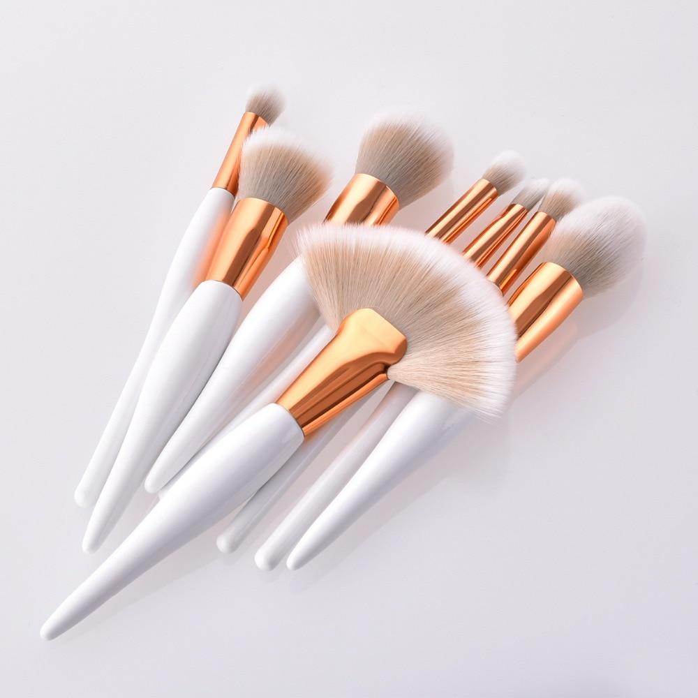 Premium 8pcs makeup brushes set for eye shadow cosmetics wood handle nylon brush head pro tools & accessories 100sets/lot DHL