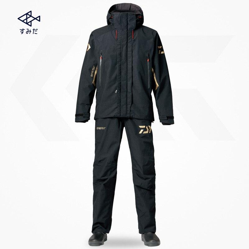 Dropshipping Daiwa hombres impermeable chaqueta de deporte al aire libre traje de caza conjuntos de ropa de Pesca