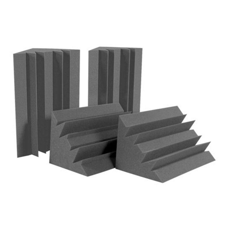 12 Uds. De esponja negra de bajo para esquina pared absorción de sonido estudio absorción de sonido espuma de estudio 12x12x24cm