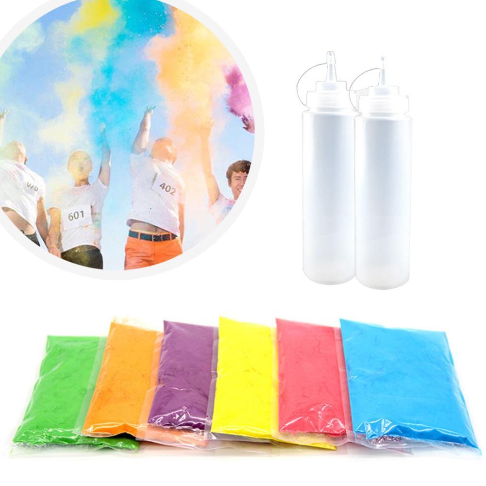 Running Throw polvo de almidón de maíz Color funciona fotomatón Props 100 g/bolsa 6 colores de grado alimenticio harina de maíz coloreada celebración inocua