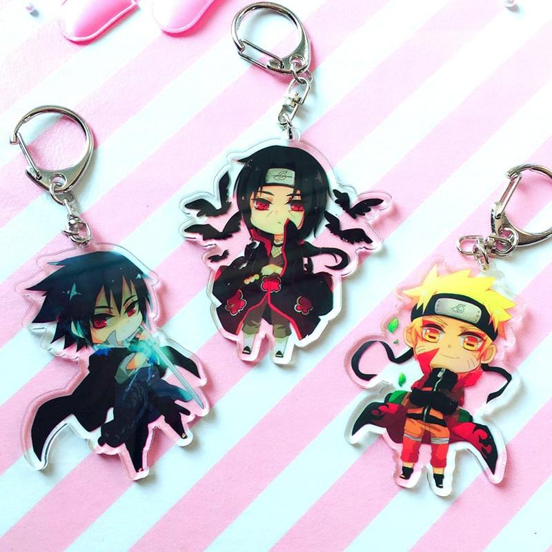 Hot Anime Naruto porte-clés titulaire mode japonais dessin animé Hokage Ninjia Uchiha Sasuke Uchiha Itachi porte-clés bijoux