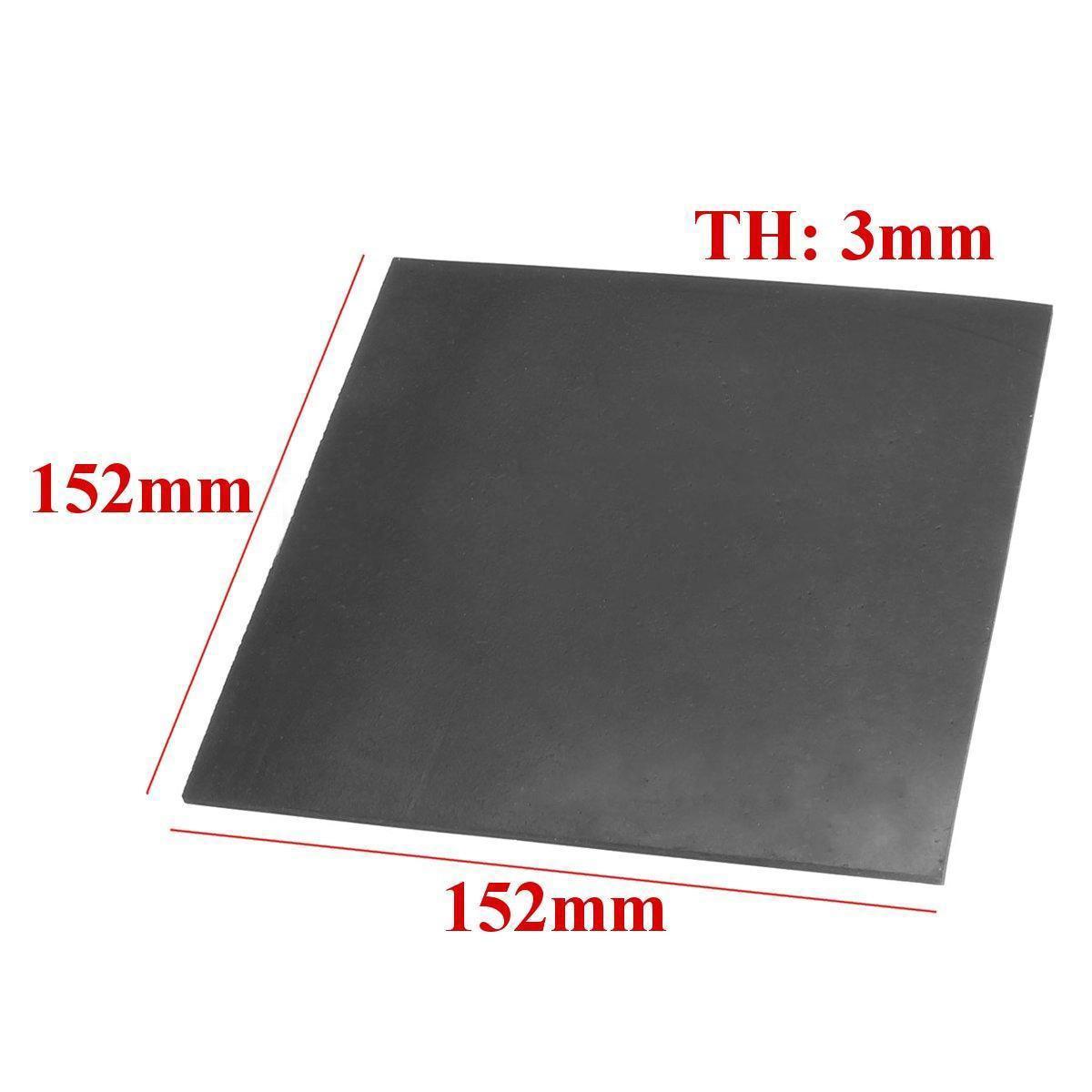Placa de borracha de alta temperatura da resistência química da folha de borracha do revestimento liso preto 152*152*3mm mayitr de 1pc