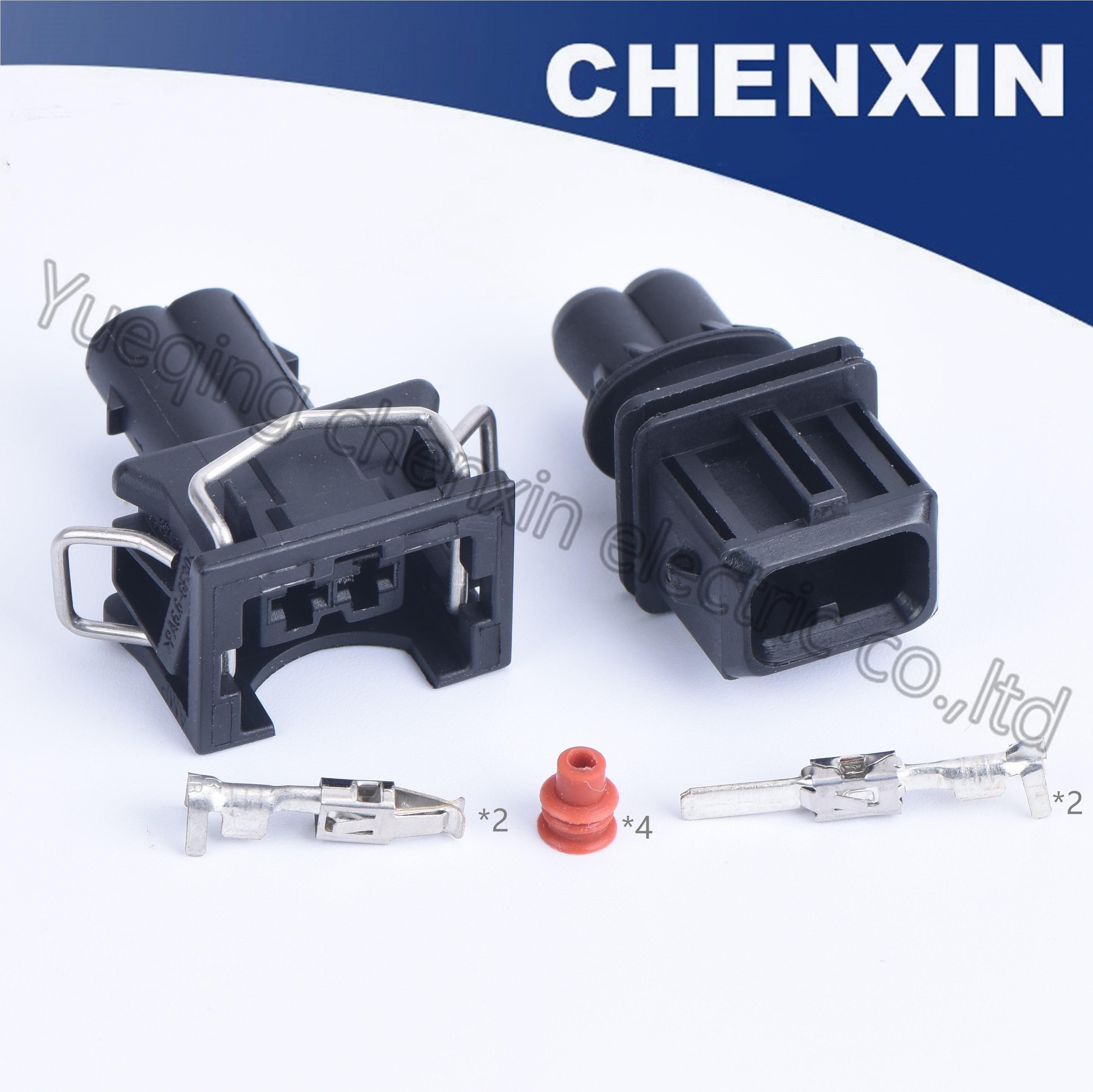Черный 2-контактный разъем (3,5) штырьковый и гнездовой разъем 106462-1 829441-1 037 для топливного инжектора, водонепроницаемый автоматический разъем