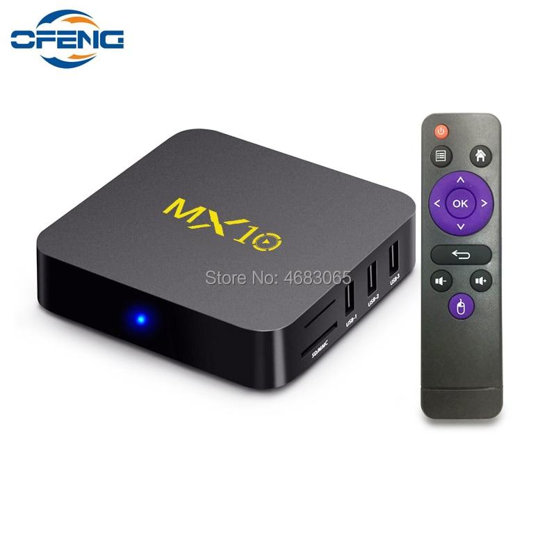 MX10 Dispositivo de TV inteligente Android 9,0 Rockchip RK3328 DDR4 4GB Ram 64GB Rom IPTV Smart Set-top Box 4K USB 3,0 HDR H.265 Media Player Box