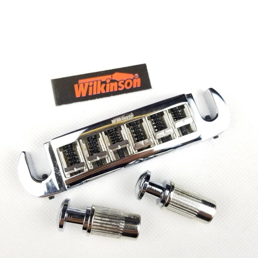 Wilkinson регулируемая оболочка LP электрогитара мост хвостовик хром серебро WOGT3