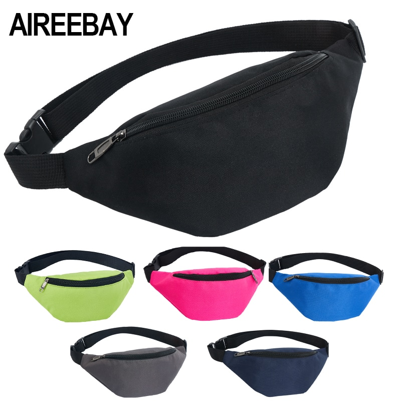 AIREEBAY Waist Bag Female Belt New Brand Fashion Waterproof Chest Handbag Uni Fanny Pack Ladies Waist Pack Belly Bags Purse