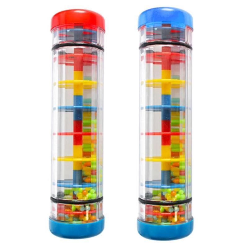 Montessori, instrumento de juguete con sonido en forma de gota de lluvia, juguete de plástico para lluvia, juguetes educativos para niños