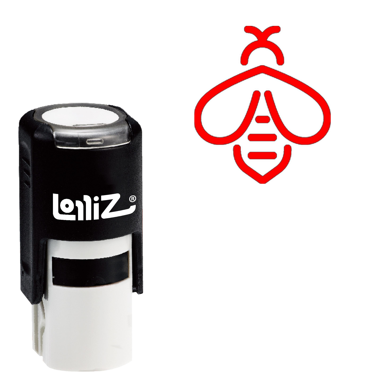 LolliZ abeja auto-entintado sello de goma-símbolo moderno serie