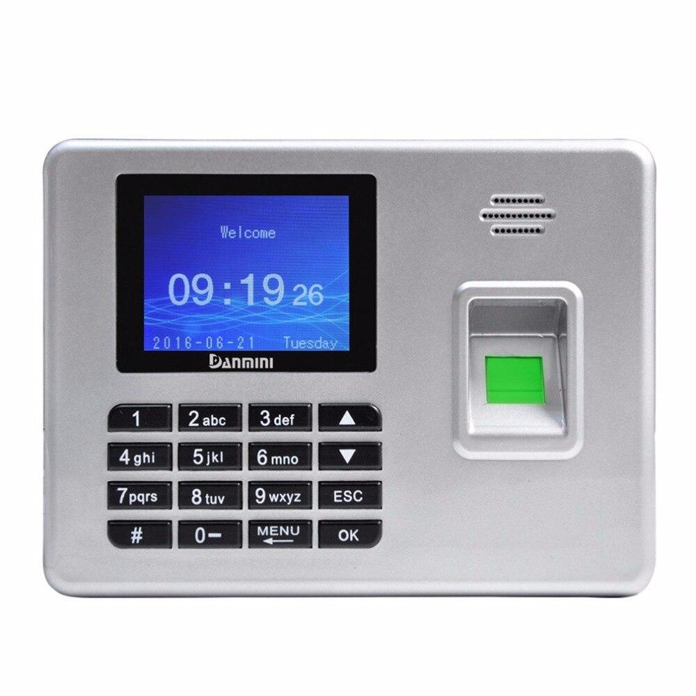 Danmini 2 8 дюйма TFT экран A3 посещаемость отпечатков пальцев время посещаемости