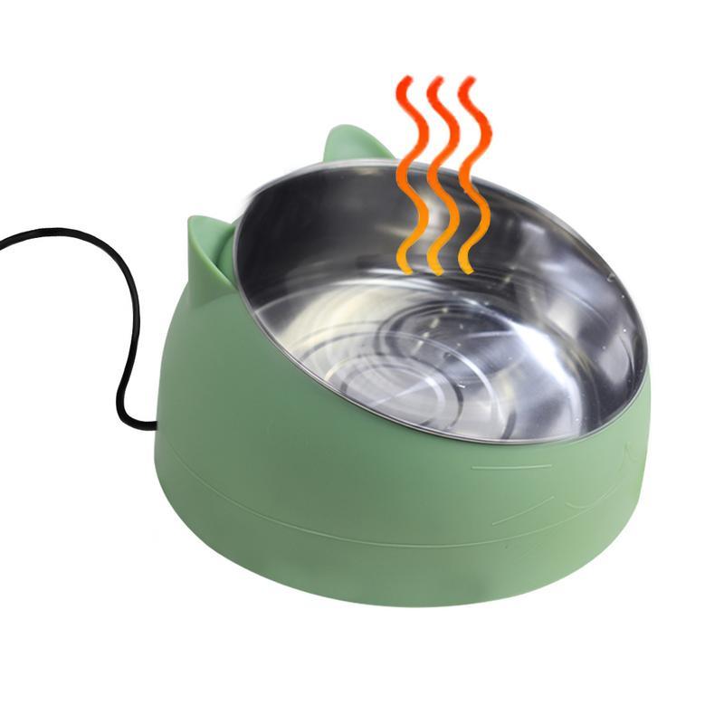 Автоматическая нагревательная миска для собак, дорожный сухой корм для животных, миски для кошек, собак, розовые миски для собак, напольная чаша для питьевой воды, 110-220 В