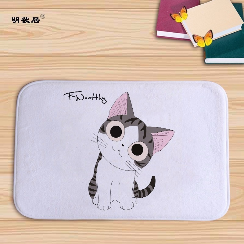 Home decor Cartoon Chi Sweet home cat printed bath mat floor mats in kitchen carpet 40x60cm Flannel DoormatTapete for Bed Room