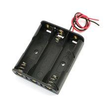 Spring Clip Black Plastic 3 x 1.5V AA Battery Case Slot Holder-Hot