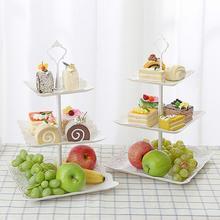 Three-layer Fruit Bowl Portable Cake Rack Fruit Dessert Vegetable Storage Rack Home Kitchen Storage Cleaning Supplies