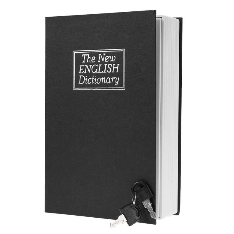 New Creative English Dictionary Shape Money Saving Box Book Piggy Bank with Key Cash Coins Saving Boxes Lock-up Storage Box