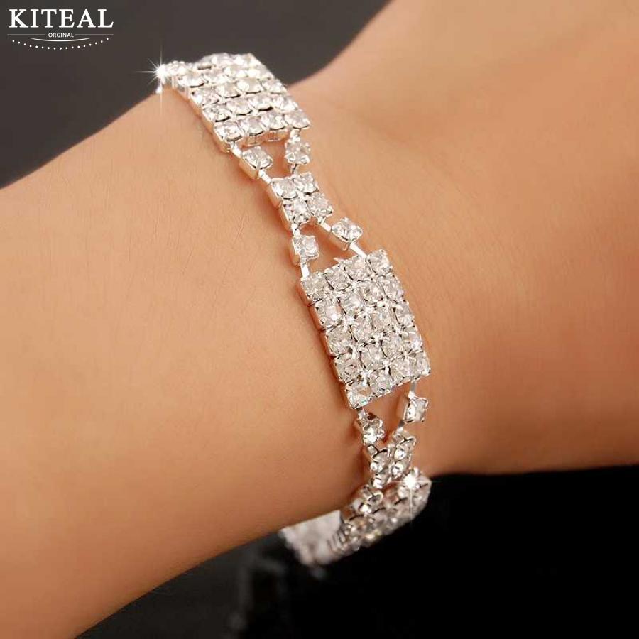 KITEAL 925 zakupy online indie kobiety akcesorium ślubne kwadratowe akcesoria ślubne zaręczynowe