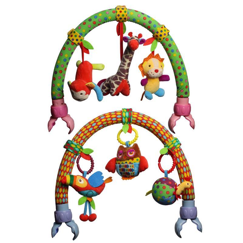 Heißer Verkauf Schöne Kinderwagen Drehmaschine Auto Sitz Bett Hängen Spielzeug Baby Spielen Reise Neugeborenen Baby Spielzeug Pädagogisches Rasseln Mobile