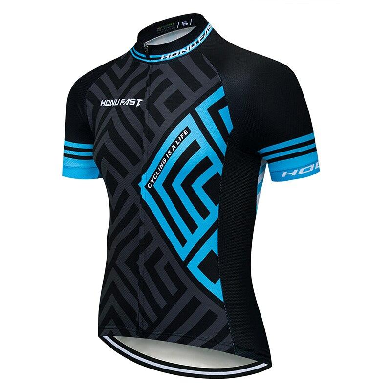 Verano 2019 jerseys de Ciclismo de manga corta para hombre, jerseys de Ciclismo MTB, bicicleta, camiseta solo para ciclismo