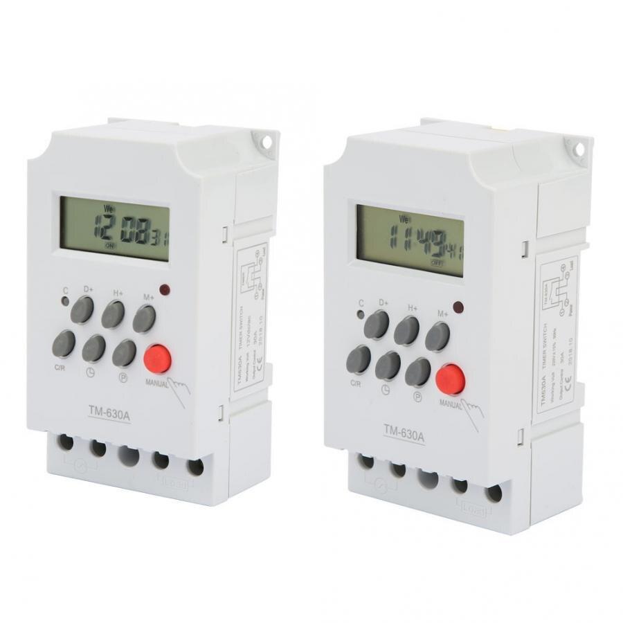 TM630A 12V DC/AC220V Mini LCD Digital microordenador Control temporizador interruptor de encendido relé de enclavamiento