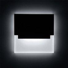 Nueva lámpara led de pared, candelabro de acrílico empotrado, luces creativas, luz de pie para pasillo, escalera, sendero, Lámpara decorativa moderna para pared