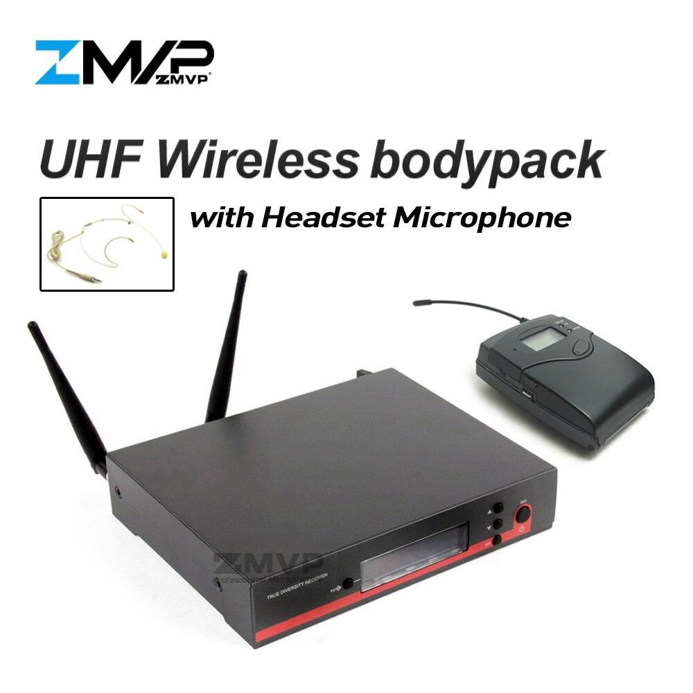 Profesional EW122G3 UHF micrófono inalámbrico, sistema de Karaoke con EW100G3 inalámbrico, transmisor Bodypack auricular micrófono de diadema Mike