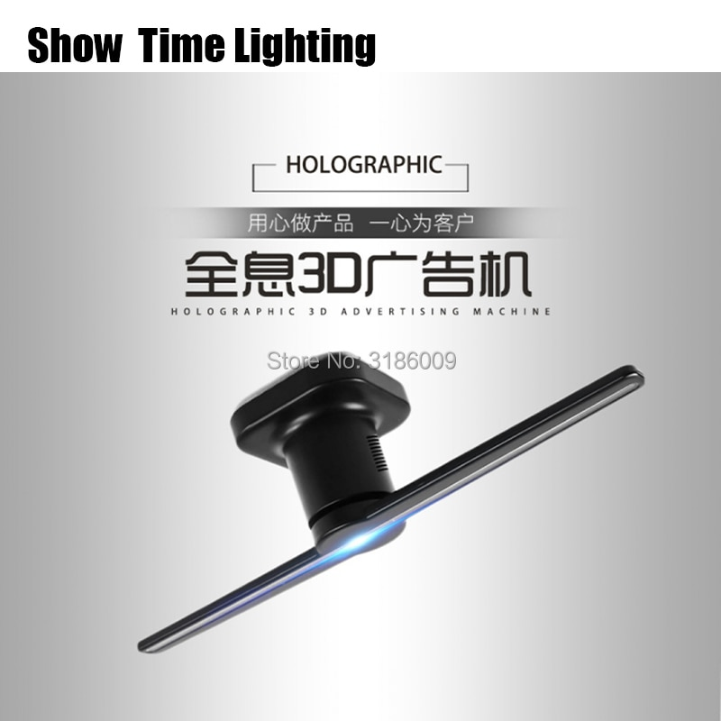 New Arrival 3D Holographic Projector Portable Hologram Player LED Holographic Dispaly Logo Unique Hologram Projector Black/White