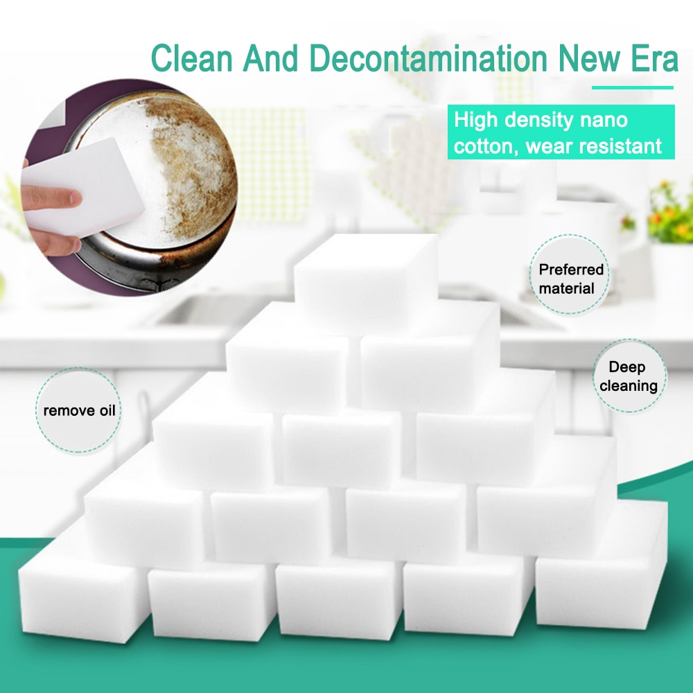 2019 New 1 Pcs Sponge Eraser Kitchen Duster Wipes Home Accessory Microfiber Dish Car Cleaning Melamine Sponge Nano Wholesale