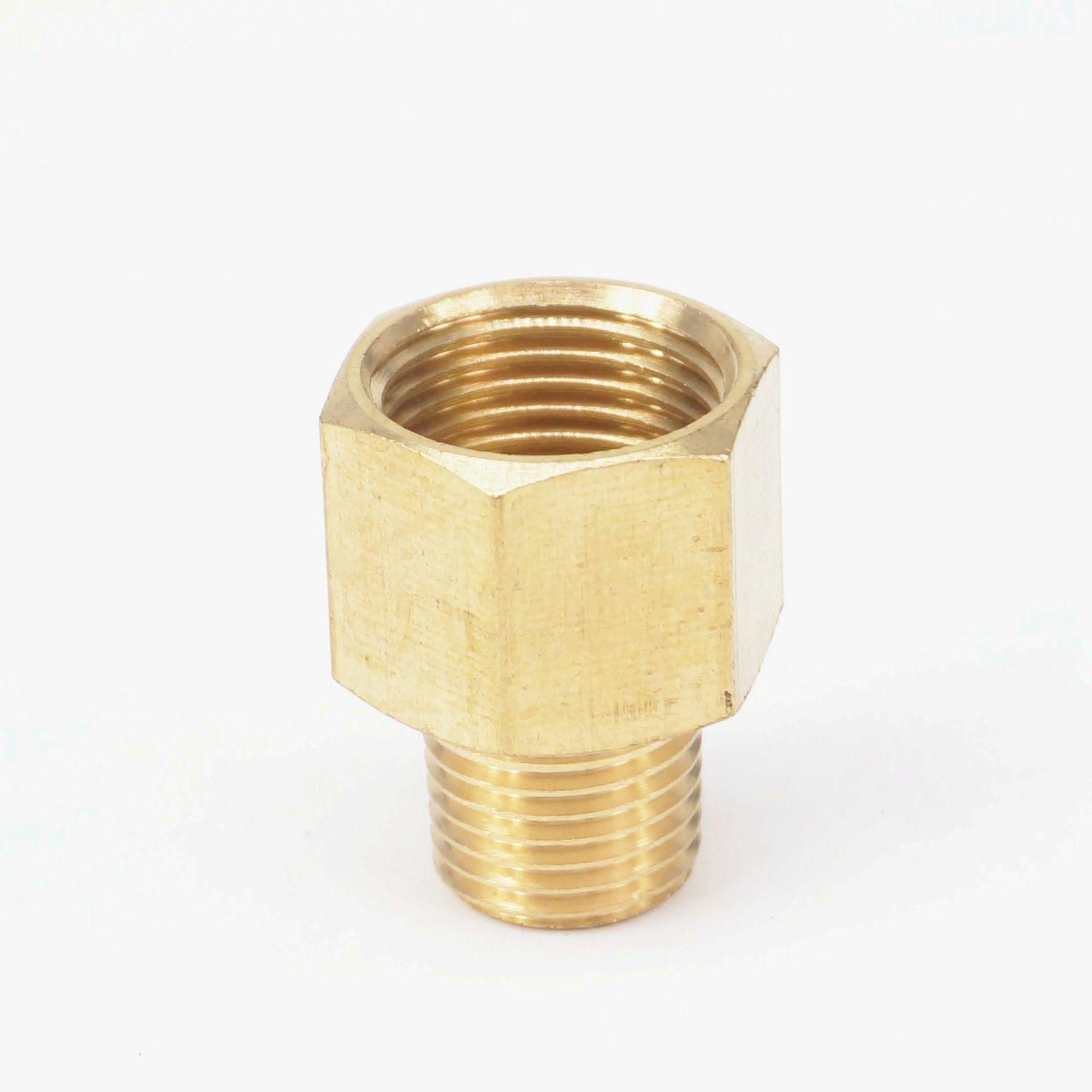"""1/8 """"bspt macho x 1/4"""" npt fêmea adaptador de encaixe de tubulação de bronze conector para calibre pressão ar gás combustível água"""