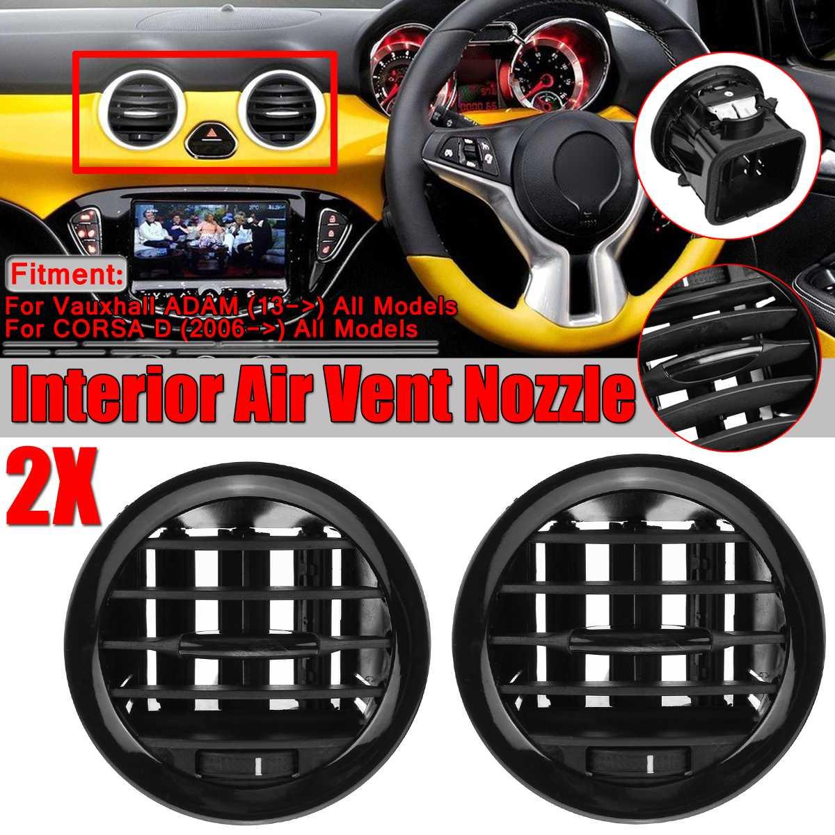 Calentador Interior de coche A/C, rejilla de salida de la cubierta de ventilación para Vauxhall Opel Adan/CORSA D MK III, ventilación de aire acondicionado, cubiertas de molduras