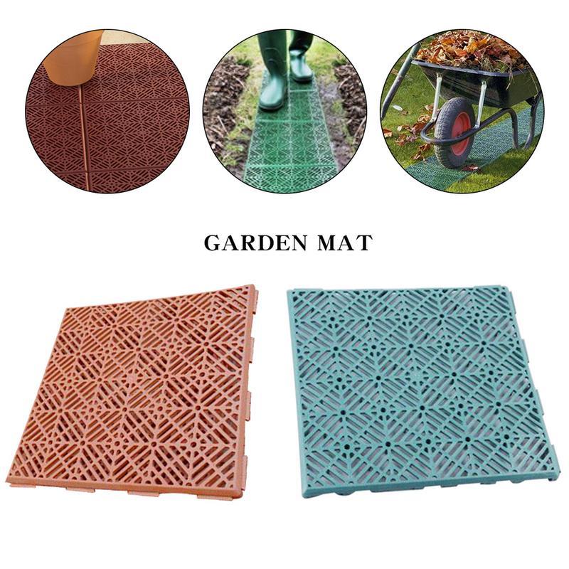 5Pcs Non-Slip Mats Garden Plastic Flooring Balcony Garden Pads