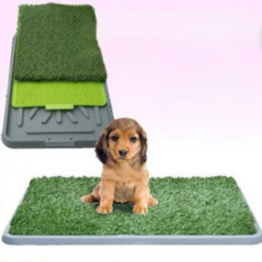68X43CM Three Layers Pink Pet-Potty Lawn Simulated Lawn Home Dog Detachable Toilet Blue Detachable