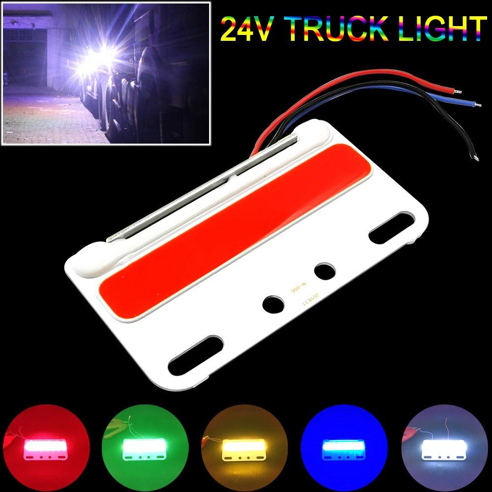 Luz de giro COB para camión 24V lámpara LED para iluminación de señal, Bombilla decorativa para camión, luces LED de decoración estroboscópica para camión a prueba de agua coloridas
