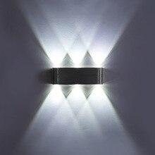 Lámpara de pared Ip65 de aluminio Led plateado, moderna para interiores y exteriores, para el hogar, escaleras, dormitorio, cabecera, baño, Luz